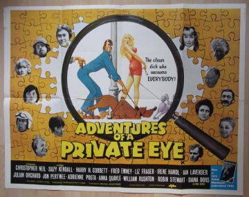 Adventures of a Private Eye (1977) - Vintage Poster | UK Quad Poster